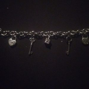 Tiffany vintage silver charm bracelet